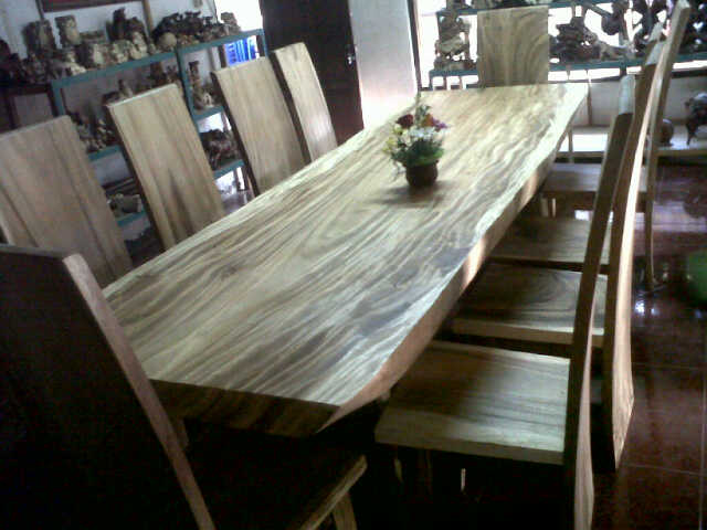 TB06. mahogany wooden table, size 300cm x 85-100cm x thick 10 cm, 10 chair mahogany wood, package price  (U$D 1750 1 set)
