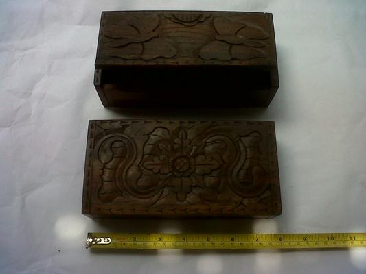 Box 10. 20cm x 10cm x 5cm. ($ 6) ebony wood