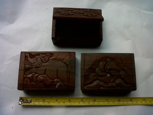 Box 4, 10 x 8 x 4. ( $ 2) ebony wood,