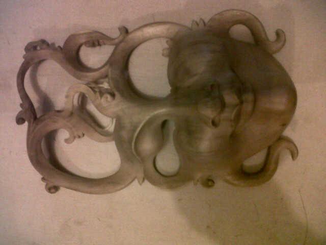 mask M01, size 30cm U$D 12. hibiscus wood